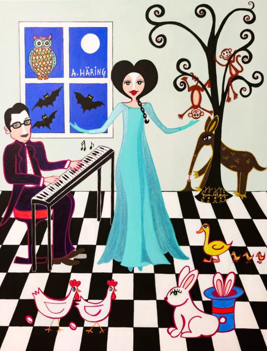 Matilda canta una canción |Pintura de Ángela Fernández Häring | Compra arte en Flecha.es