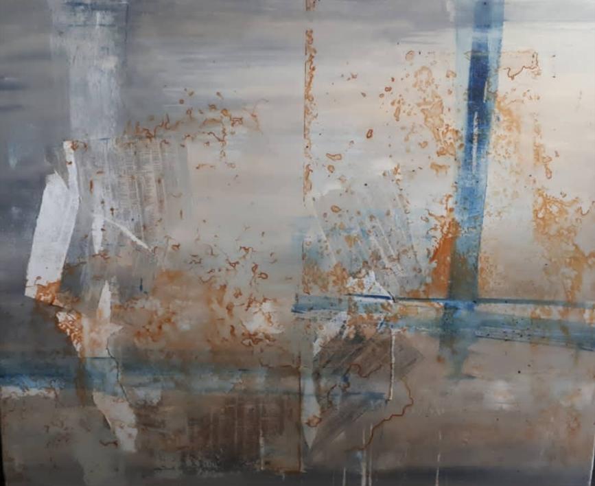 Lineas en el mar |Pintura de Maria San Martin | Compra arte en Flecha.es