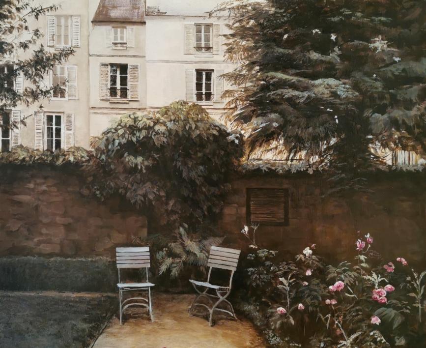 Paris-Museo Delacroix (jardin) |Pintura de Carmen Nieto | Compra arte en Flecha.es