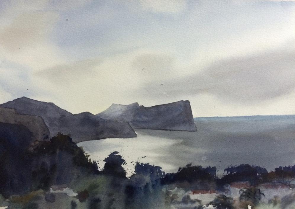 Cala Sant Vicenç |Pintura de Chela Grijelmo | Compra arte en Flecha.es
