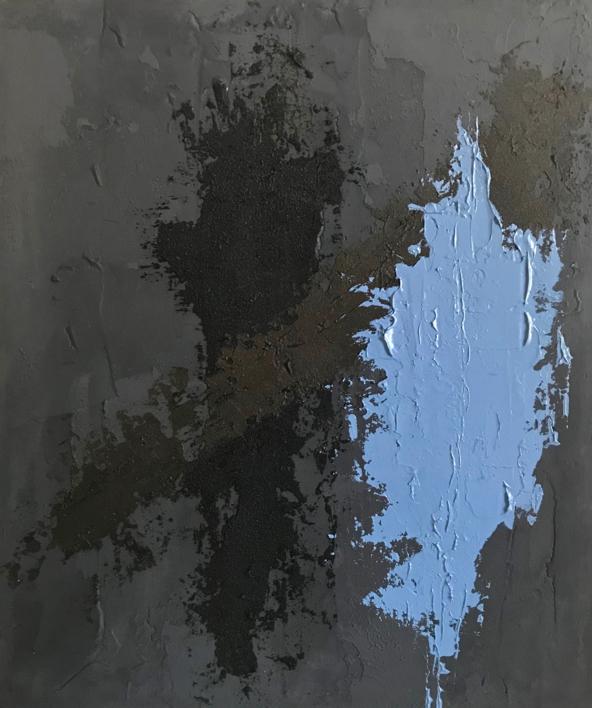 TIERRA Y AZUL |Pintura de ALFREDO MOLERO DOVAL | Compra arte en Flecha.es