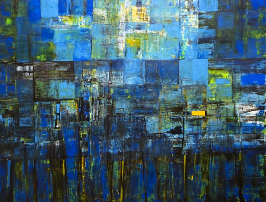 Deep blue  Pintura de Eddy Miclin   Compra arte en Flecha.es