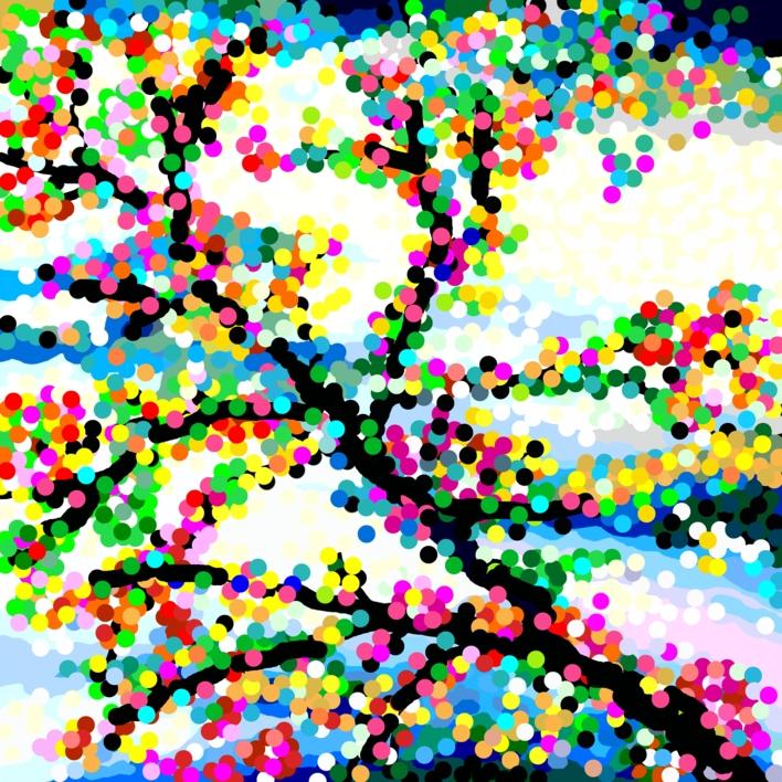 Paraíso DOT |Obra gráfica de ALEJOS | Compra arte en Flecha.es