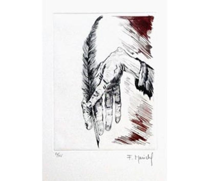 El Testamento de Don Quijote (I) |Dibujo de François Marechal | Compra arte en Flecha.es