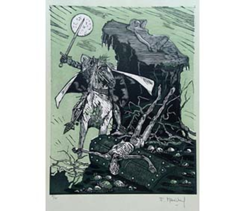 El Testamento de Don Quijote (III) |Dibujo de François Marechal | Compra arte en Flecha.es