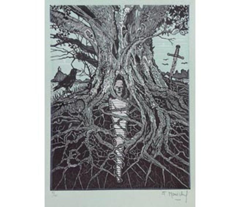 El Testamento de Don Quijote (IV) |Dibujo de François Marechal | Compra arte en Flecha.es