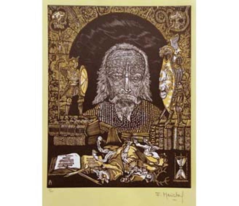 El Testamento de Don Quijote (V) |Dibujo de François Marechal | Compra arte en Flecha.es