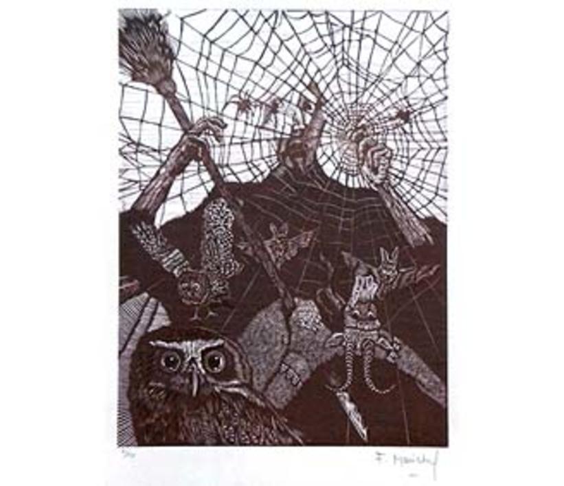 El Testamento de Don Quijote (VII) |Dibujo de François Marechal | Compra arte en Flecha.es
