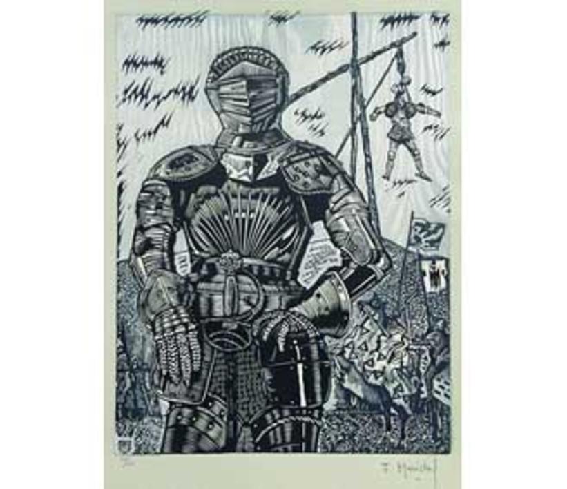 El Testamento de Don Quijote (IX) |Dibujo de François Marechal | Compra arte en Flecha.es
