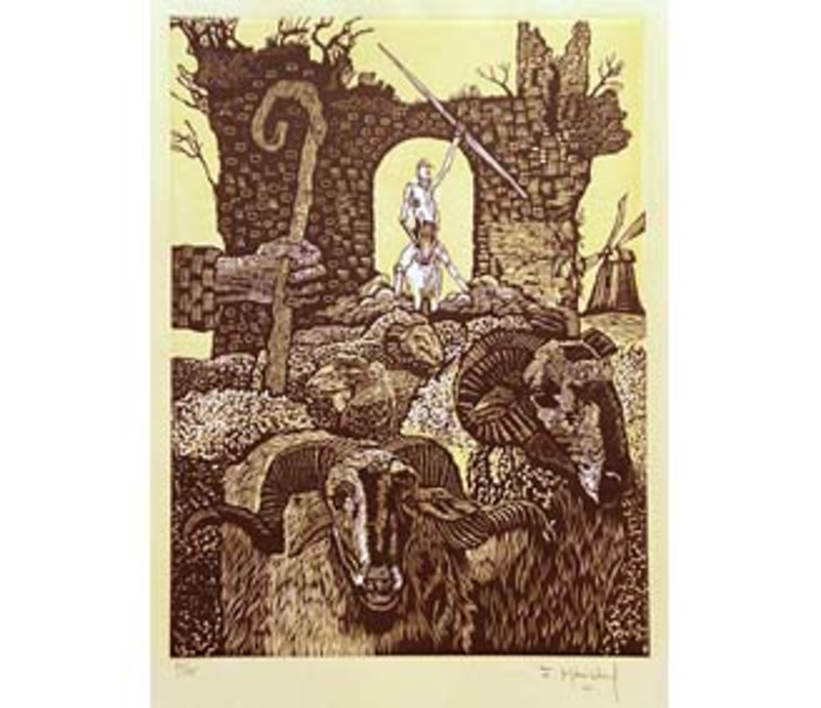 El Testamento de Don Quijote (X) |Dibujo de François Marechal | Compra arte en Flecha.es