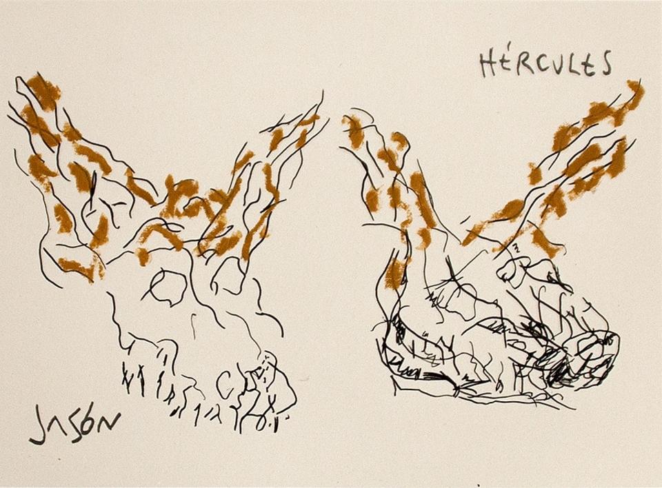 El Acantilado del Tren Mineral (III) |Dibujo de Alberto Corazón | Compra arte en Flecha.es