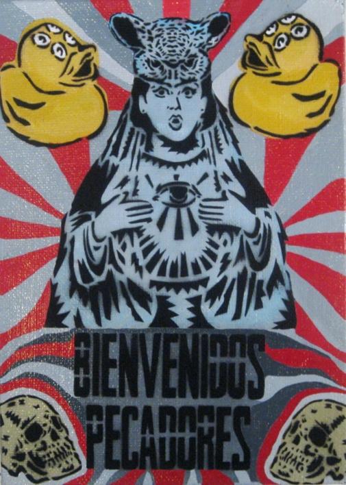 Bienvenidos Pecadores |Pintura de Carlos Madriz | Compra arte en Flecha.es
