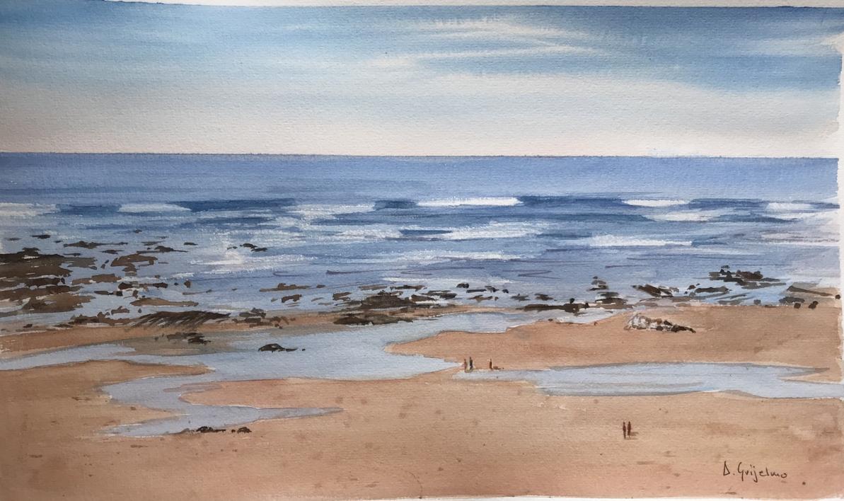 Marea baja 1 Sopelana |Pintura de Chela Grijelmo | Compra arte en Flecha.es