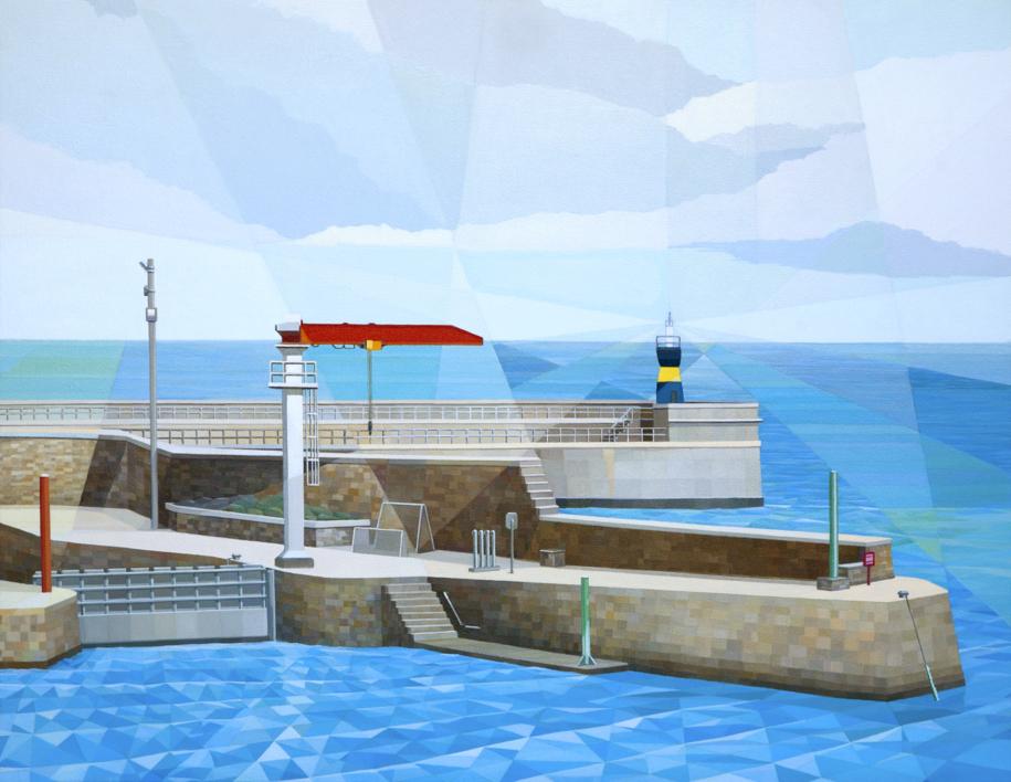 Puerto de Comillas  Pintura de Luis Monroy Esteban   Compra arte en Flecha.es