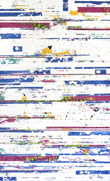 WHITE GLITCH |Pintura de Ana Dévora | Compra arte en Flecha.es