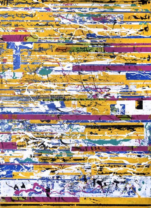 GLITCH AMARELO |Pintura de Ana Dévora | Compra arte en Flecha.es