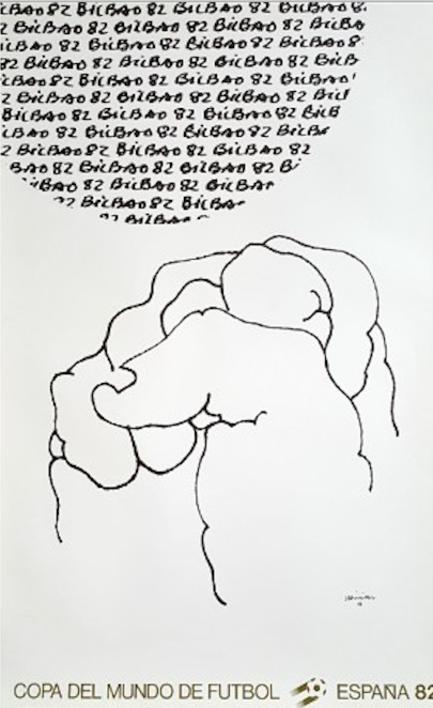 Cartel Original. Mundial  Obra gráfica de Eduardo Chillida   Compra arte en Flecha.es