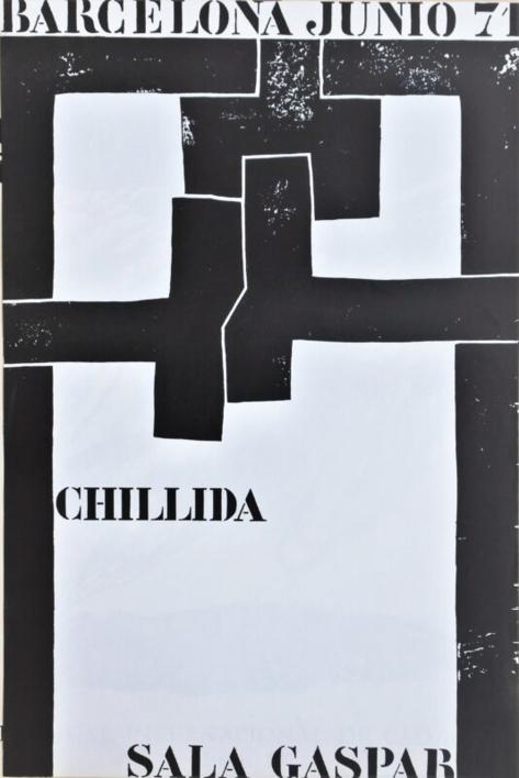 Cartel Original. Sala Gaspar |Dibujo de Eduardo Chillida | Compra arte en Flecha.es