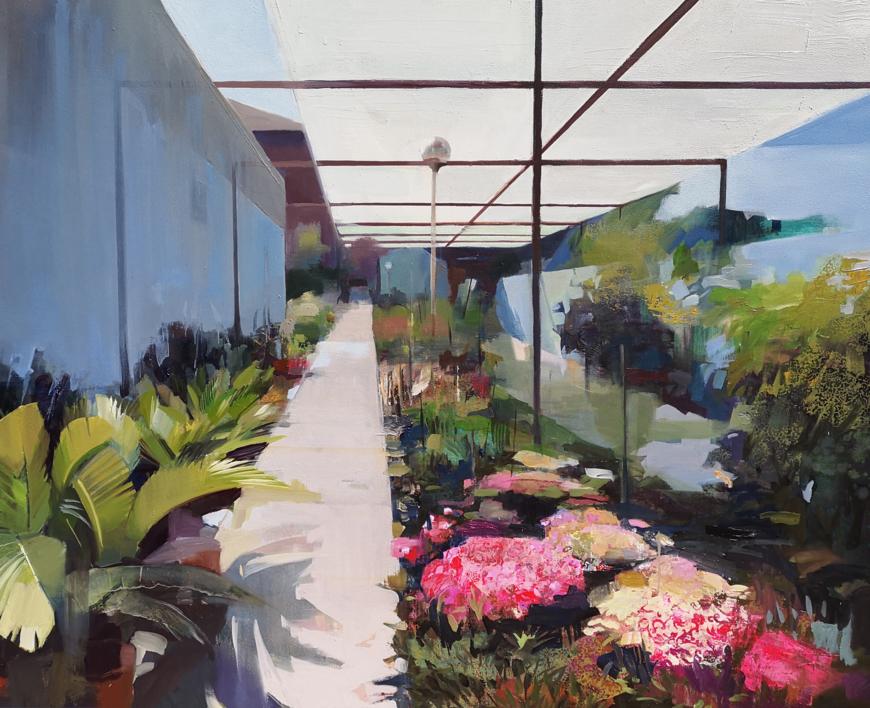 El vivero  Pintura de Carmen Montero   Compra arte en Flecha.es