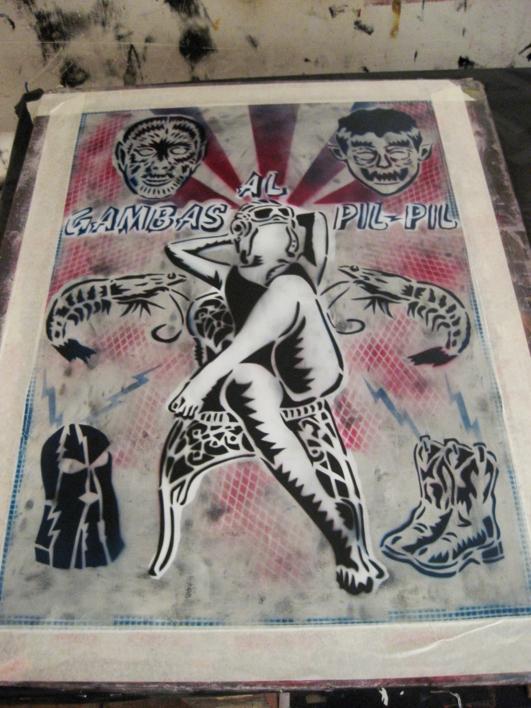 Gambas  Al  Pil - Pil | Obra gráfica de Carlos Madriz | Compra arte en Flecha.es