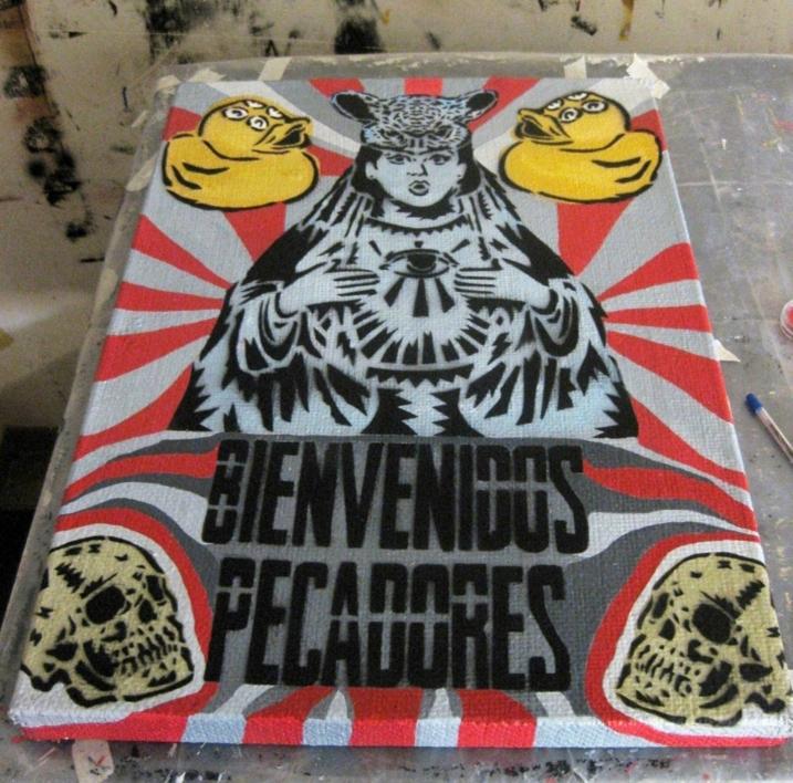 Bienvenidos Pecadores | Pintura de Carlos Madriz | Compra arte en Flecha.es