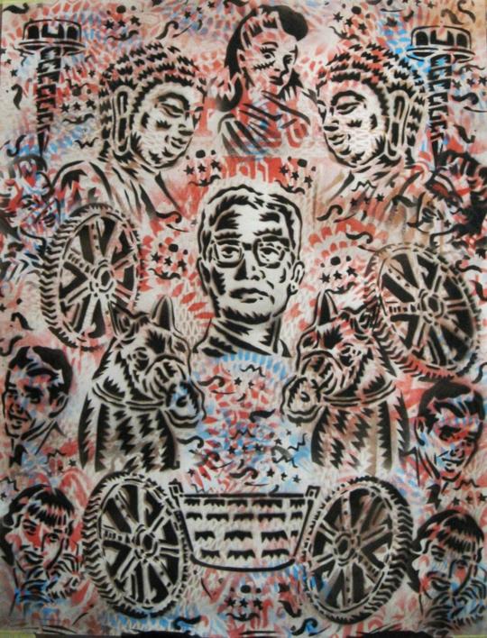 Dr. Palangana  Ilustración de Carlos Madriz   Compra arte en Flecha.es