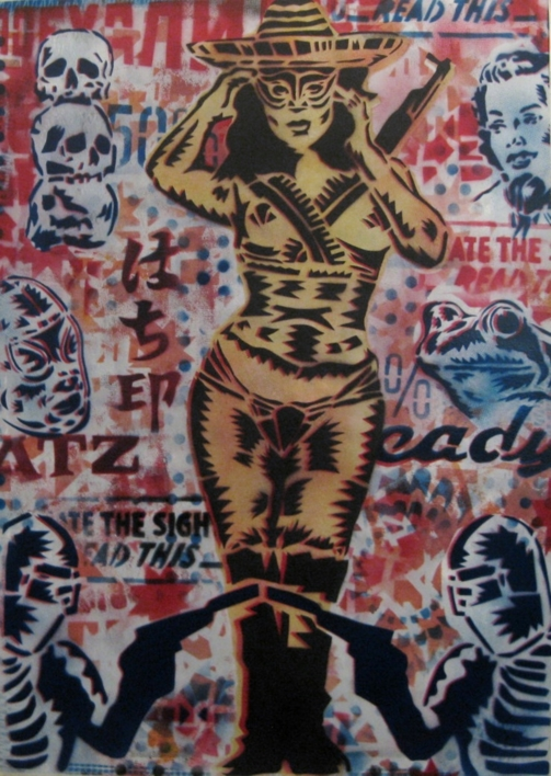 Promesas IV (Bandida)  Obra gráfica de Carlos Madriz   Compra arte en Flecha.es