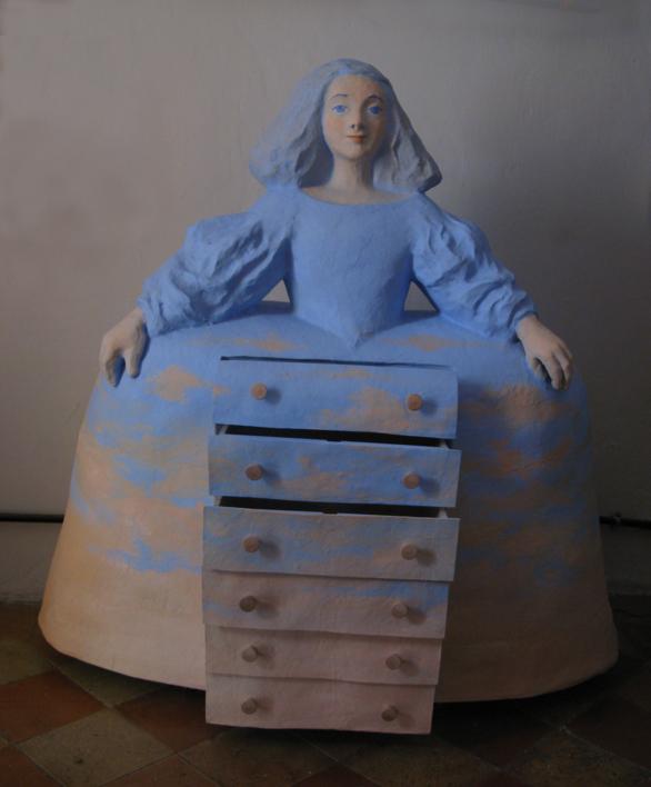 Menina cómoda | Escultura de Carmen Varela | Compra arte en Flecha.es
