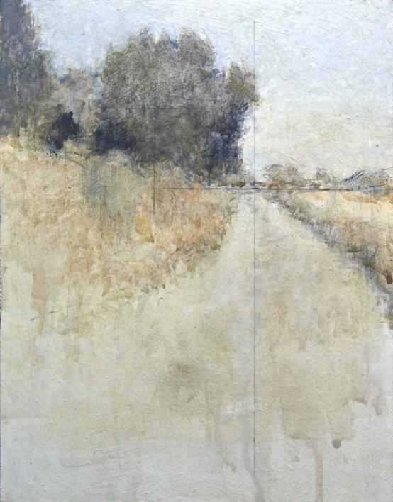 Vereda junto al rio |Pintura de José Luis Romero | Compra arte en Flecha.es