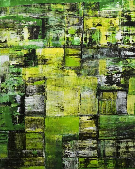 Green city |Pintura de Eddy Miclin | Compra arte en Flecha.es