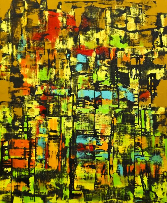 La  jungla |Pintura de Eddy Miclin | Compra arte en Flecha.es
