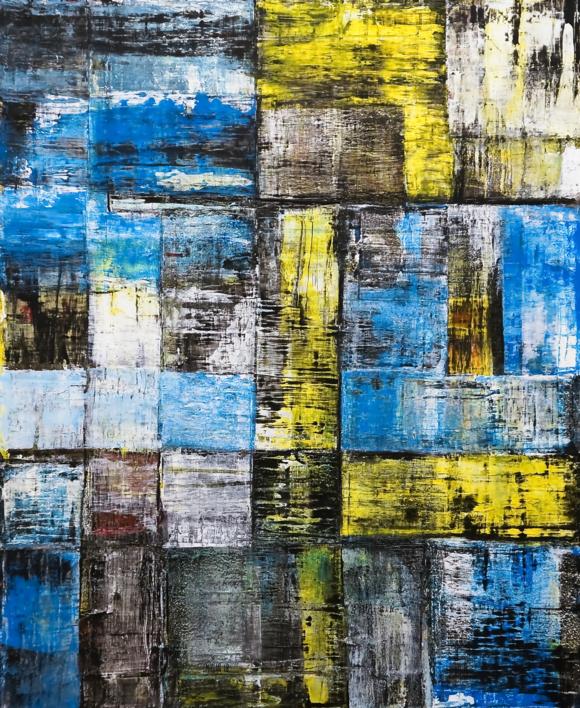 Paisaje  urbano |Pintura de Eddy Miclin | Compra arte en Flecha.es