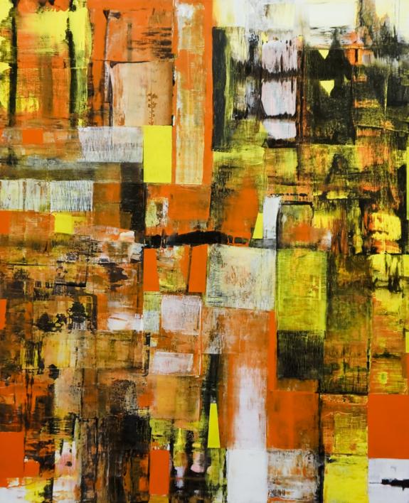 Deep orange |Pintura de Eddy Miclin | Compra arte en Flecha.es