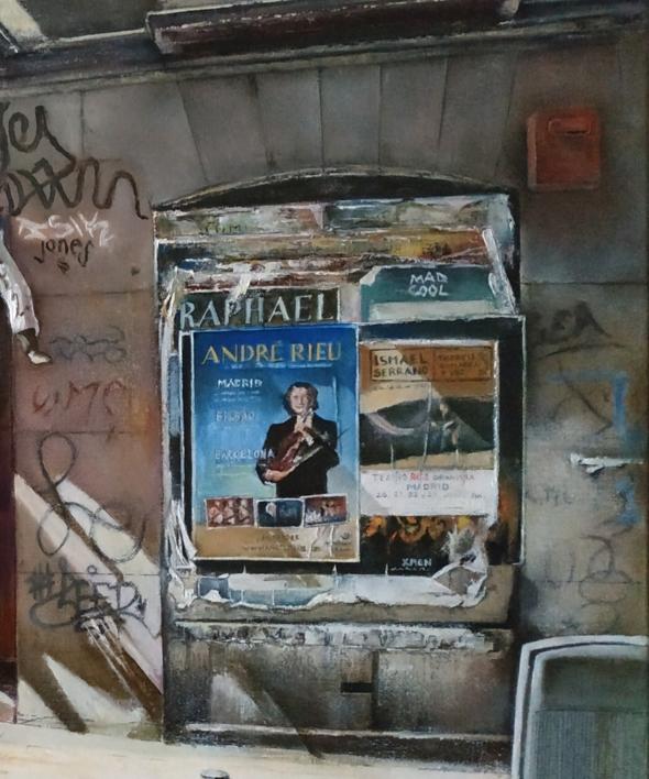 Calle del Pez- Madrid | Pintura de TOMAS CASTAÑO | Compra arte en Flecha.es