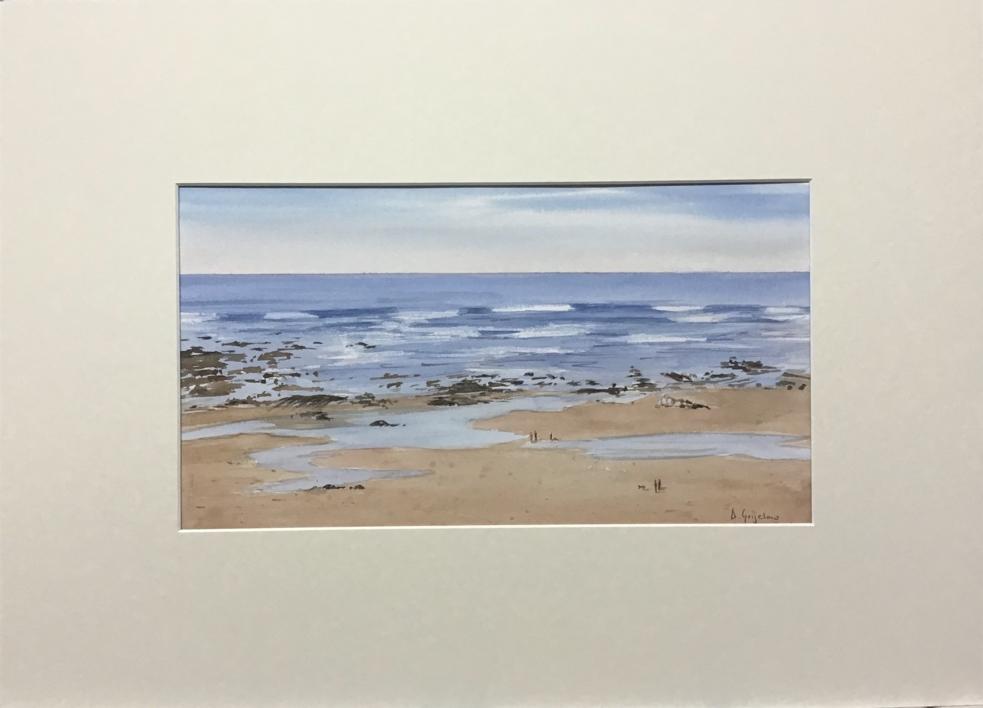 Marea baja 1 Sopelana | Pintura de Chela Grijelmo | Compra arte en Flecha.es