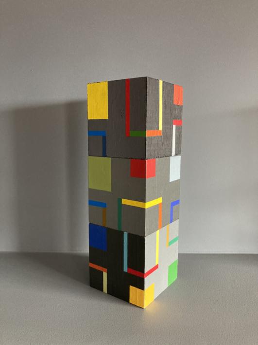 Cubes bcd |Escultura de Luis Medina | Compra arte en Flecha.es