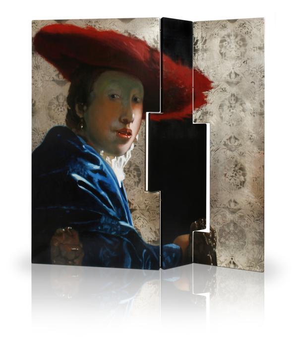 Biombo de Vermeer asimétrico  Pintura de Enrique González   Compra arte en Flecha.es