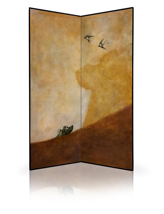 Dog looking up  Pintura de Enrique González   Compra arte en Flecha.es