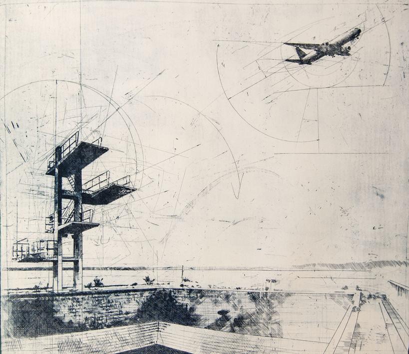 Trampolin |Obra gráfica de Wenceslao Robles | Compra arte en Flecha.es