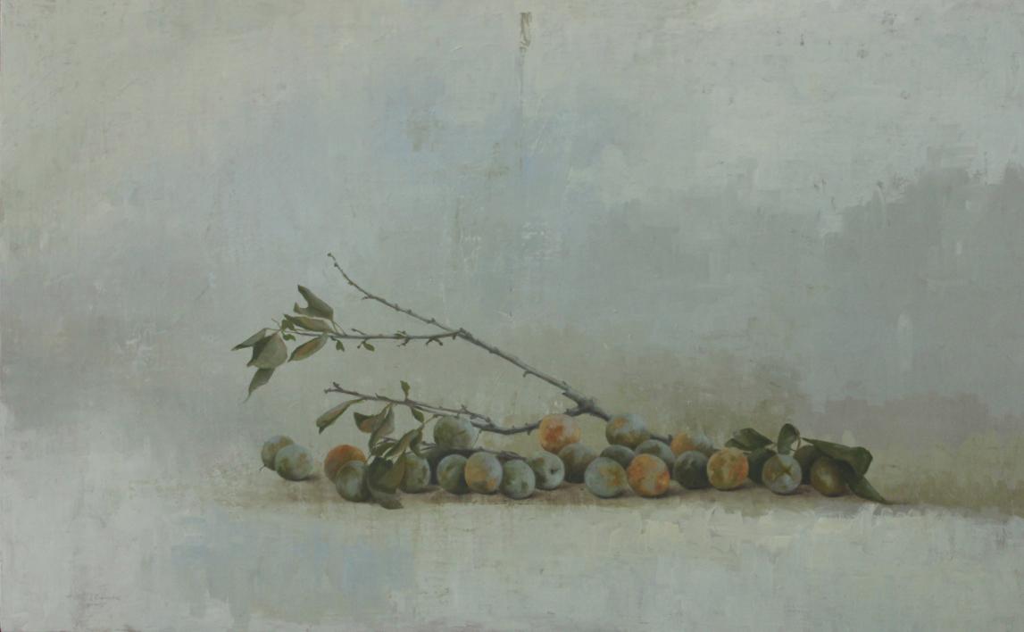 Ciruelas verdes  Pintura de marta gomez de la serna   Compra arte en Flecha.es