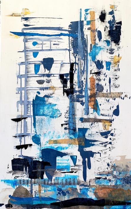 Behind the City |Collage de Florencia Zampieri | Compra arte en Flecha.es