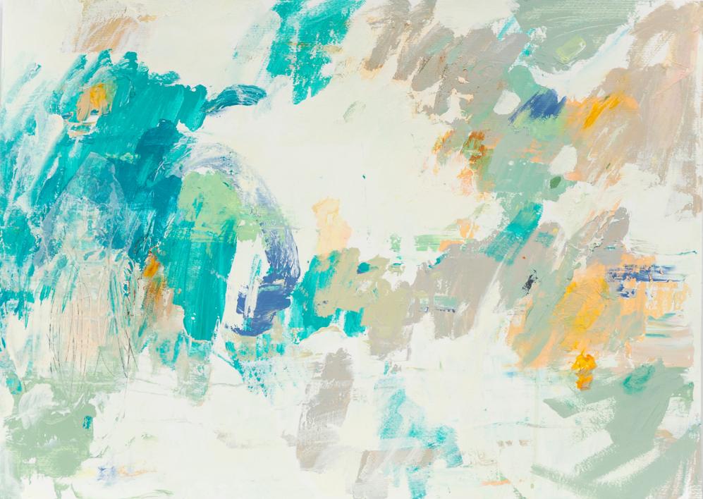 Abstracción en verde  Pintura de Susana Sancho   Compra arte en Flecha.es