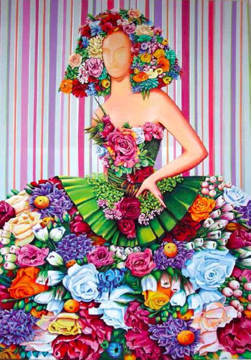 Menina Primavera |Pintura de Maite Rodriguez | Compra arte en Flecha.es