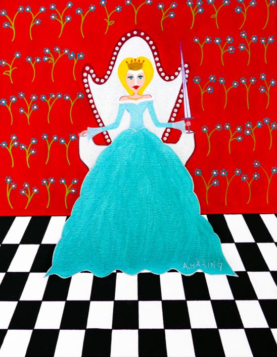 Reina Matilda de Espadas  Pintura de Ángela Fernández Häring   Compra arte en Flecha.es