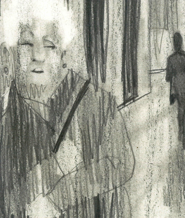Cuchicheos R.I.P. | Dibujo de Ignacio Lobera | Compra arte en Flecha.es