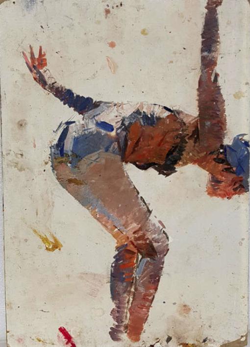 In the swimming pool 4 |Pintura de Shponko Gregori Andreevich | Compra arte en Flecha.es