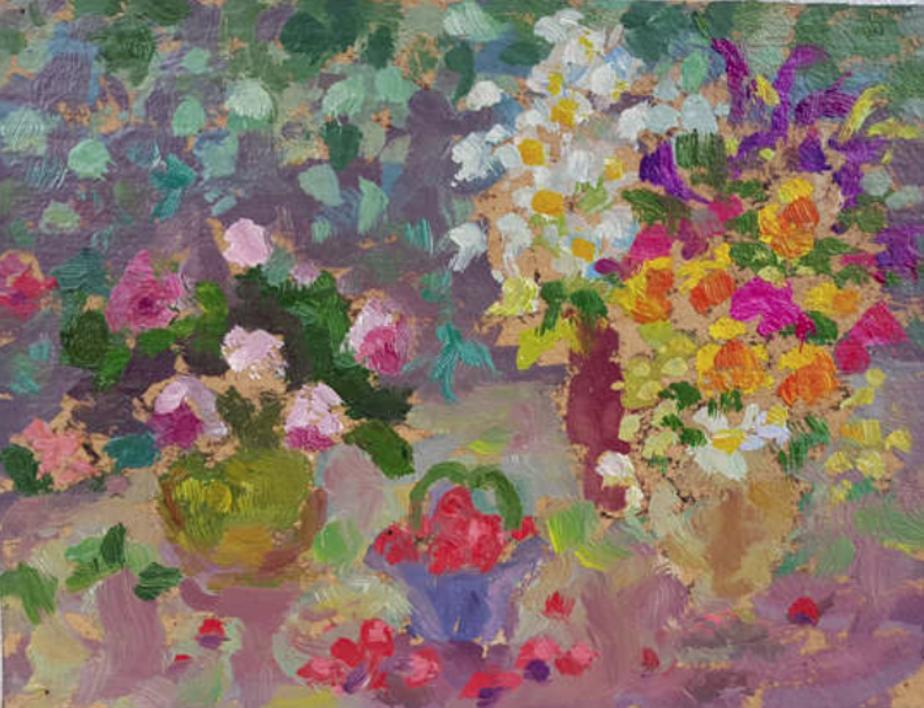 Flowers |Pintura de Arsenov Vladimir Viacheslavovich | Compra arte en Flecha.es