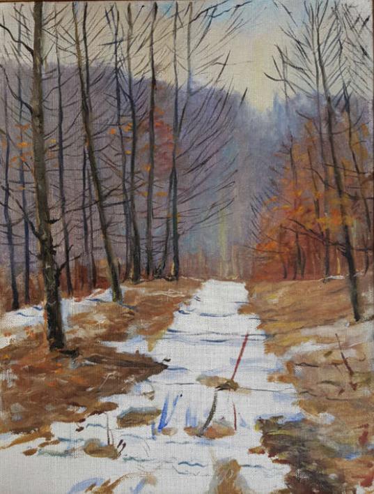 Early Spring |Pintura de Bessaraba Leonid Pavlovich | Compra arte en Flecha.es