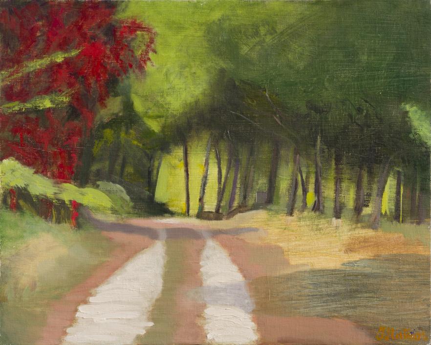 Rojo  y Verde  Pintura de Ignacio Mateos   Compra arte en Flecha.es