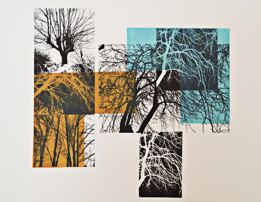 El bosque translúcido  composición 2 V/E I |Obra gráfica de Josep Pérez González | Compra arte en Flecha.es